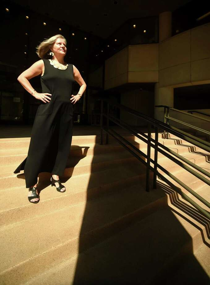 Beata Bagi, outside New Haven Superior Court last Tuesday, is enjoying her freedom since retiring from her job as a state Victim Services Advocate. Photo: Peter Hvizdak / Hearst Connecticut Media / New Haven Register
