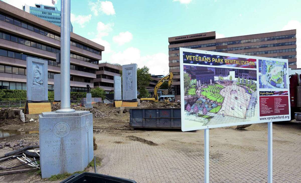 Renovations are underway on August 9, 2018 at Stamford's Veteran's Park after the state bonding commission gave the project the $2 million it needed to finish the job.