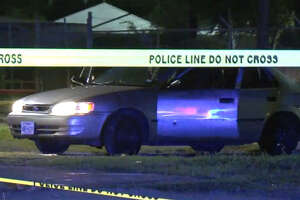 Two men were shot outside a Golfcrest bar early Sunday.