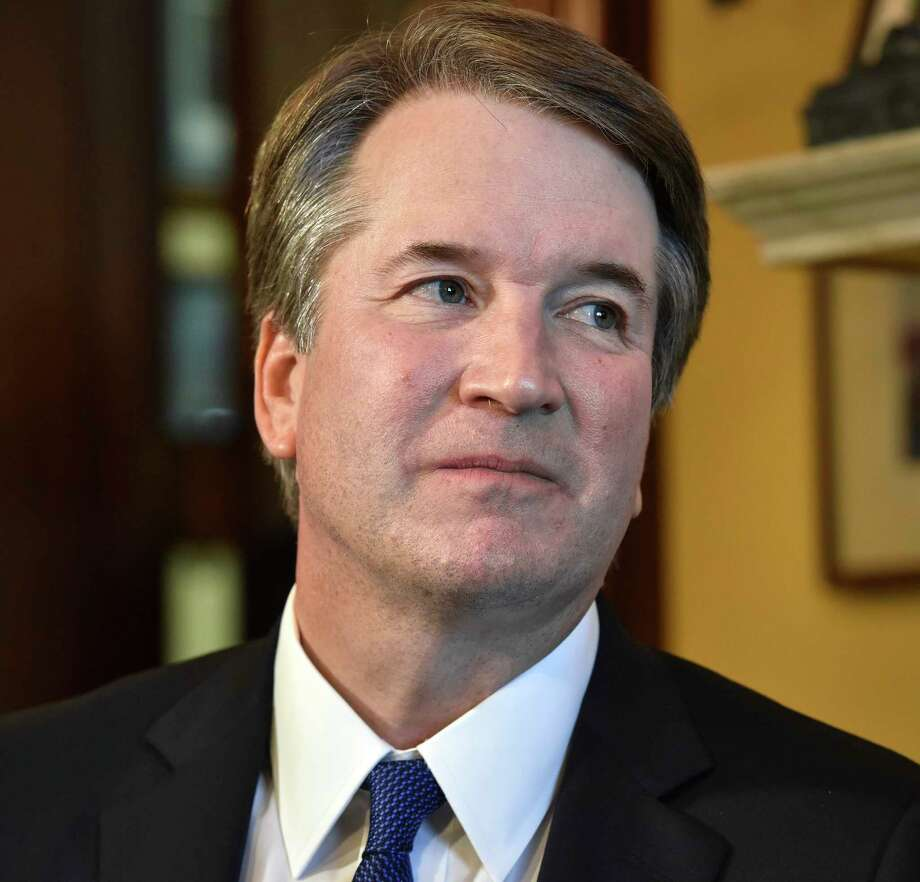 Supreme Court nominee Brett Kavanaugh visits Republican senators at the Capitol on July 11. Photo: Washington Post Photo By Bill O'Leary / The Washington Post