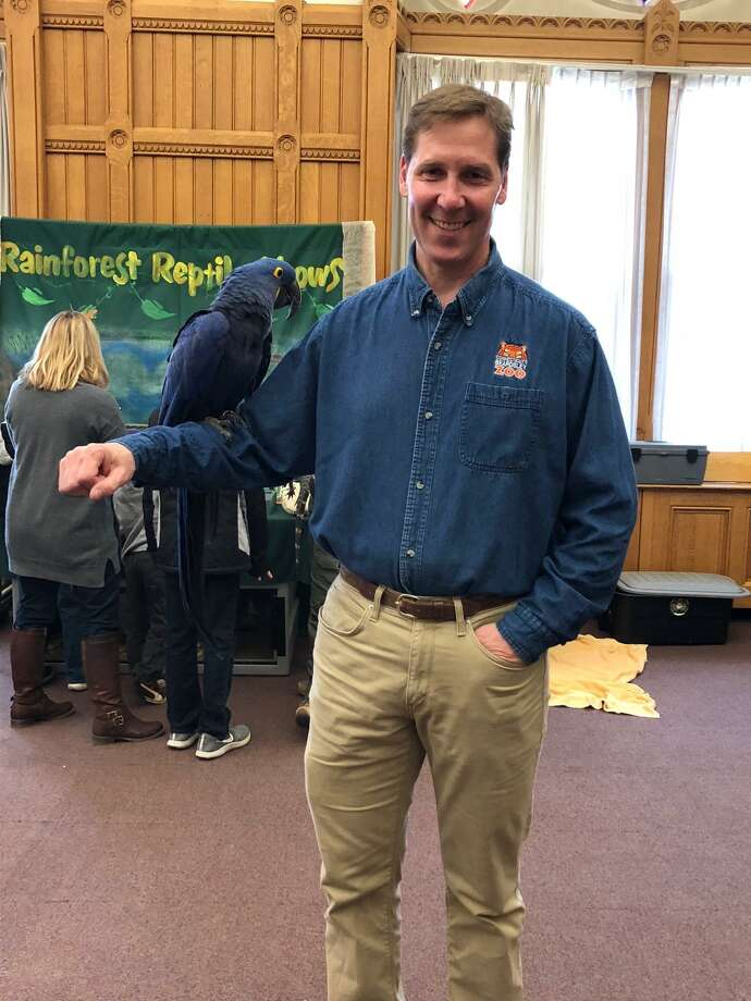 Connecticut's Beardsley Zoo's Education Curator and Zoologist Jim Knox will speak at the Bruce Museum Seaside Center at Greenwich Point Park on Sunday, Sept. 2. Photo: Gary Zenobia /For Connecticut's Beardsley Zoo, Contributed