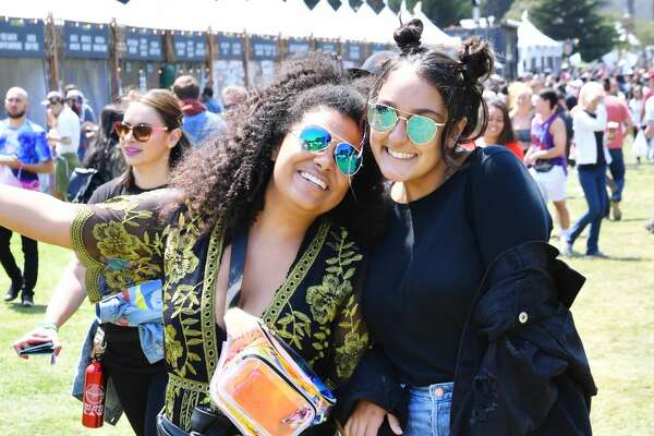 Festivalgoers are seen during the 2018 Outside Lands Music And Arts Festival at Golden Gate Park on August 11, 2018 in San Francisco, California.