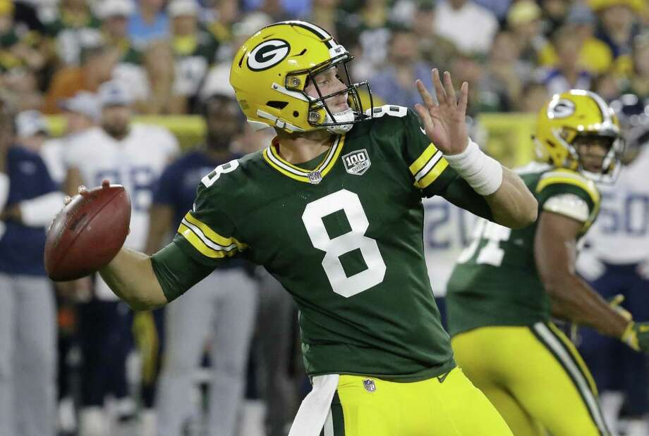 Middlefield's Tim Boyle completed 7 of 15 throws for 130 yards and a pair of touchdowns in his first preseason action with the Green Bay Packers on Thursday night. Photo: Mike Roemer / Associated Press / Copyright 2018 The Associated Press. All rights reserved.