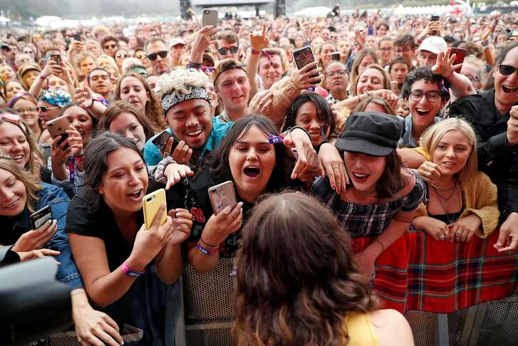 Borns plays Lands End stage during Outside Lands in Golden Gate Park in San Francisco, Calif. on Sunday, August 12, 2018.