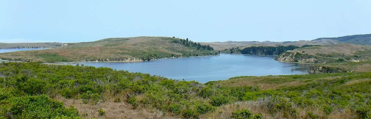 A hike at Point Reyes National Seashore leads to a ridge that overlooks Drakes Estero, a huge estuary that connects to the ocean near Limantour