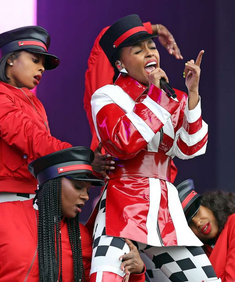 Janelle Monae plays Lands End stage during Outside Lands in Golden Gate Park in San Francisco, Calif. on Sunday, August 12, 2018. Photo: Scott Strazzante, The Chronicle