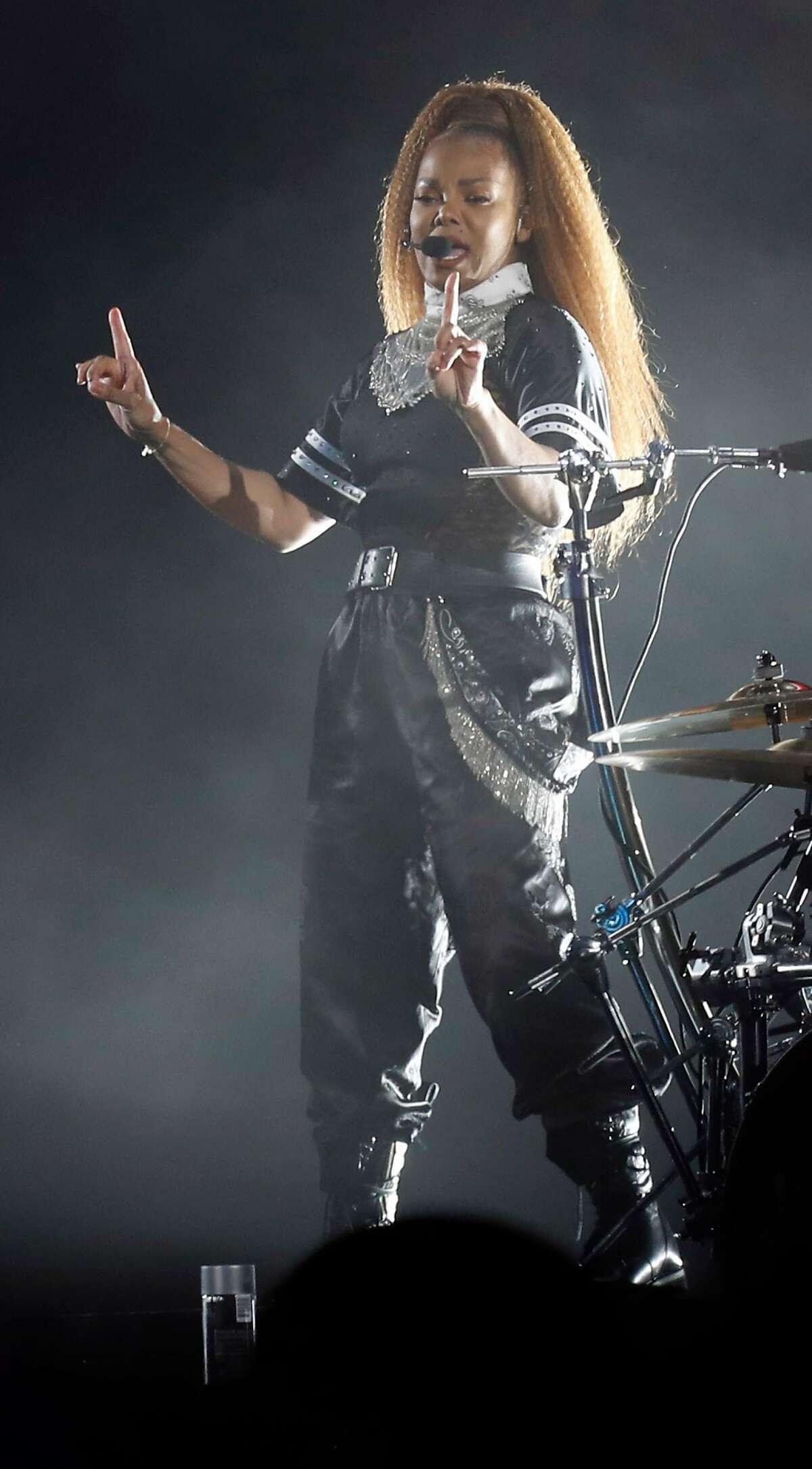 Janet Jackson plays Lands End stage during Outside Lands in Golden Gate Park in San Francisco, Calif. on Sunday, August 12, 2018.