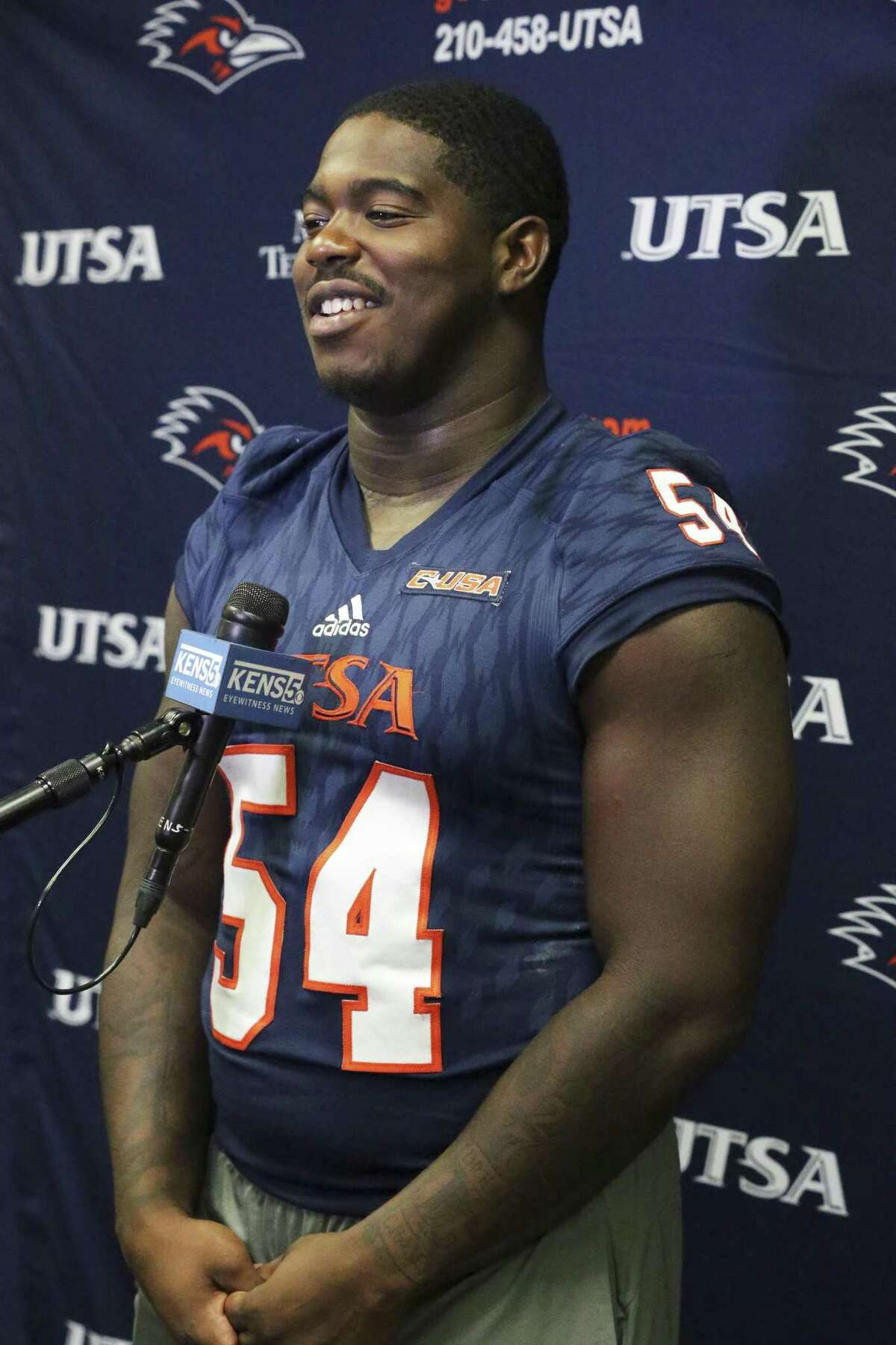 UTSA expects tackle Kevin Strong Jr. to help keep its defense at the top in 2018.