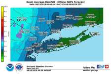 The chance of showers and thunderstorms will continue through Tuesday night, according to the National Weather Service. Many Connecticut towns could set new rainfall records for the month.