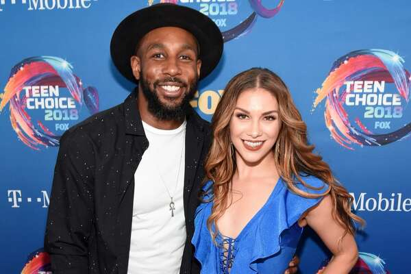 INGLEWOOD, CA - AUGUST 12: Stephen Boss (L) and Allison Holker attend FOX's Teen Choice Awards at The Forum on August 12, 2018 in Inglewood, California. (Photo by Kevin Mazur/Getty Images)