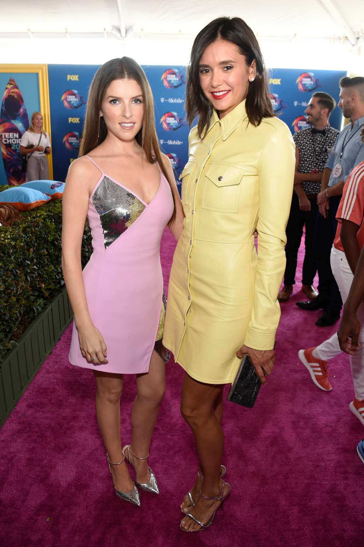Anna Kendrick and Nina Dobrev attend FOX's Teen Choice Awards at The Forum on August 12, 2018 in Inglewood, California. (Photo by Kevin Mazur/Getty Images)