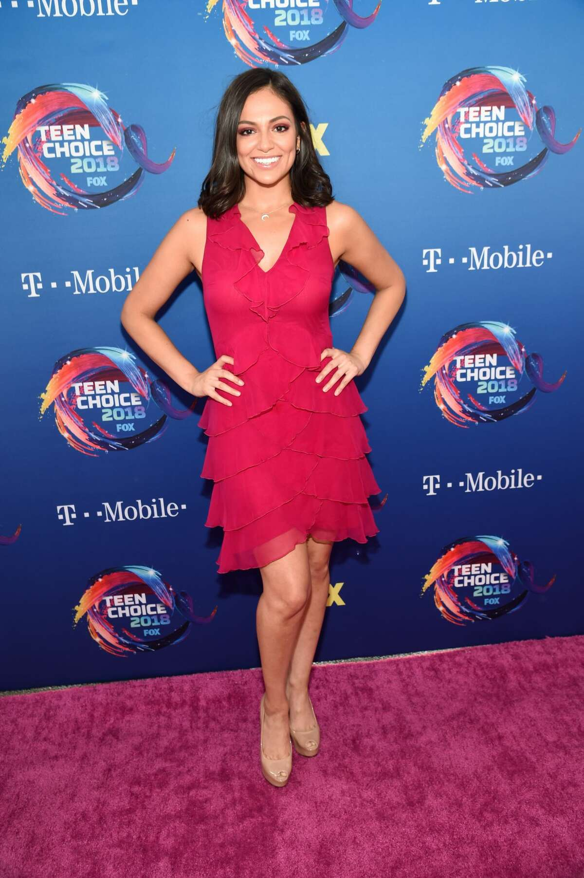 Bethany Mota attends FOX's Teen Choice Awards at The Forum on Aug. 12, 2018 in Inglewood, California. (Photo by Kevin Mazur/Getty Images)