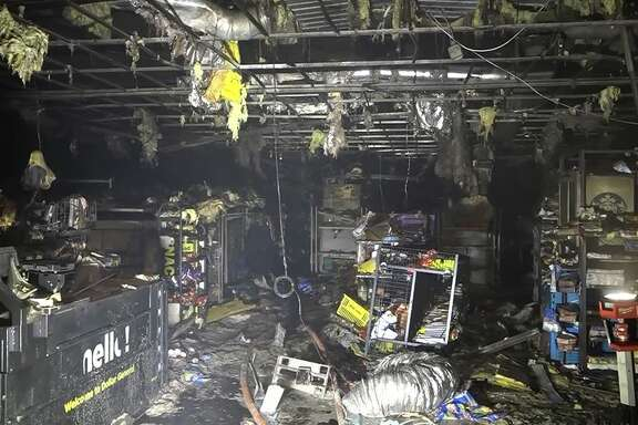 A Dollar General on State Highway 321 was destroyed in a fire on Sunday, Aug. 12, 2018.
