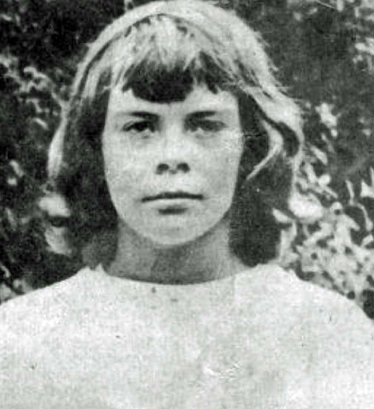 A detail of a photo was shown of 10-year-old Connie Smith, who disappeared July 16, 1952, and was not seen since. Smith had been a summer camper at Camp Sloane at 124 Indian Mountain Road in Lakeville. A former Wyoming Governor's granddaughter, Smith was last seen at the intersection of Route 44 and Belgo Road after she had decided to walk to Lakeville from the camp. Smith's disappearance prompted a national search and the largest manhunt in Connecticut history.