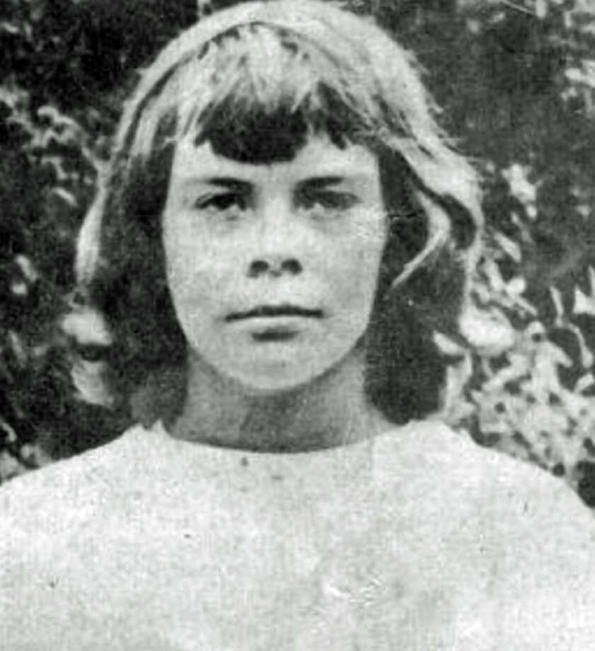 A detail of a photo was shown of 10-year-old Connie Smith, who disappeared July 16, 1952, and was not seen since. Smith had been a summer camper at Camp Sloane at 124 Indian Mountain Road in Lakeville. A former Wyoming Governor's granddaughter, Smith was last seen at the intersection of Route 44 and Belgo Road after she had decided to walk to Lakeville from the camp. Smith's disappearance prompted a national search and the largest manhunt in Connecticut history. Photo: Archive Photo / State Police