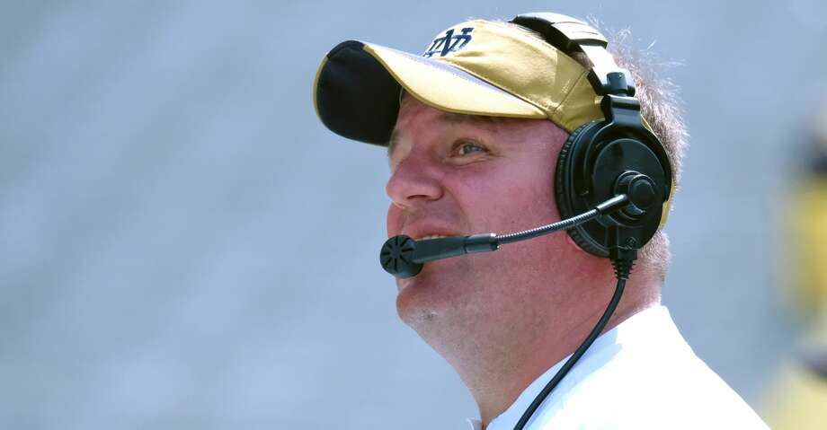 PHOTOS: Top college football coaching candidates SOUTH BEND, IN - APRIL 22:  Notre Dame Fighting Irish Defensive Coordinator Mike Elko in action during the Notre Dame Fighting Irish Blue-Gold Spring Game on April 22, 2017, at Notre Dame Stadium in South Bend, IN. Elko has coached at three different programs in the past three seasons, serving as defensive coordinator at each: Wake Forest, Notre Dame and A&M.(Photo by Robin Alam/Icon Sportswire via Getty Images) >>>Browse through the gallery for a look at the top college football coaching candidates ... Photo: Icon Sportswire/Icon Sportswire Via Getty Images