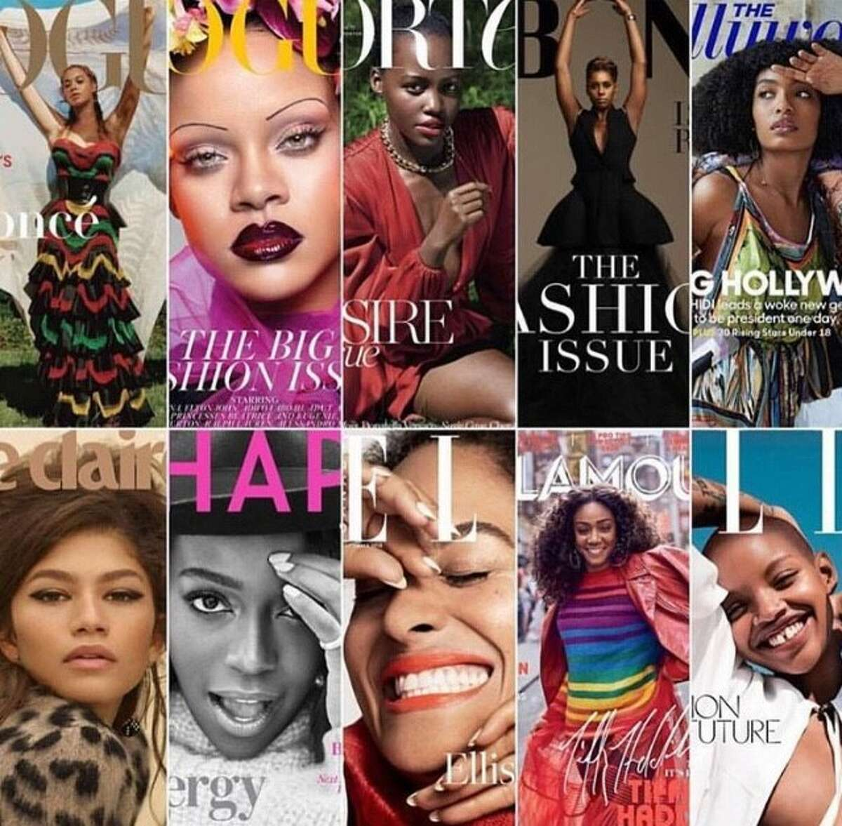 Black women are featured on the covers 11 top fashion magazines for September 2018.