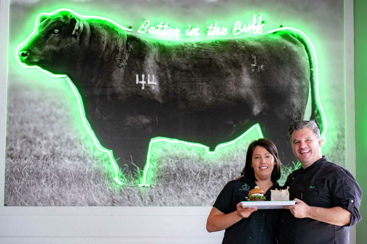 BuffBurger will open its third location in Houston with a new store at 10550 Westheimer, set to open in fall 2018. Shown: Owners Sara and Paull