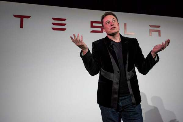 Elon Musk, chairman and chief executive officer of Tesla Motors Inc., during a news conference prior to unveiling the Model X sport utility vehicle in Fremont, Calif., on Sept. 29, 2015.