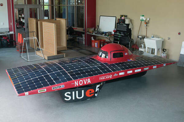 The Southern Illinois University Edwardsville School of Engineering's Solar Car.