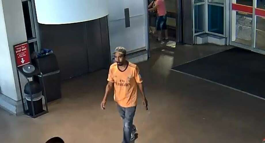 San Antonio police are looking for a man who allegedly backed into an H-E-B grocer, leaving the employee with a broken arm. Photo: San Antonio Police Department