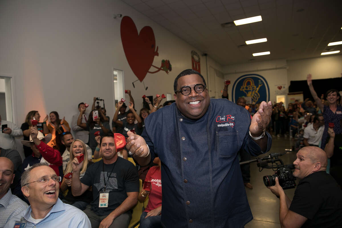 Reynold Darthard reacts to be named first place winner of the 2018 H-E-B Primo Picks Quest for Texas Best, an annual competition to find new and innovative food products from Texas businesses to launch in H-E-B stores. Darthard is chef/owner of Chef Rey Inc. in Sugar Land which produces flavored cheesecakes.