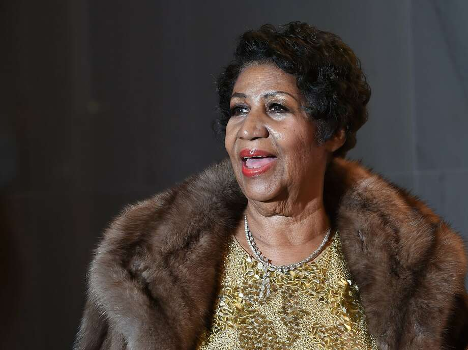 """(FILES) In this file photo taken on December 7, 2015 singer Aretha Franklin poses on the red carpet before the 38th Annual Kennedy Center Honors in Washington, DC. - Singer Aretha Franklin, a multiple Grammy award-winner star whose legacy stretches back decades, is gravely ill and surrounded by relatives, a reporter and family friend wrote on his website on August 13, 2018. The 76 year-old """"Queen of Soul"""" Franklin, known for hits such as """"Respect"""" (1967) and """"I Say a Little Prayer"""" (1968), """"is gravely ill in Detroit. The family is asking for prayers and privacy,"""" wrote Roger Friedman on the Showbiz 411 website. (Photo by MOLLY RILEY / AFP)MOLLY RILEY/AFP/Getty Images Photo: MOLLY RILEY, AFP/Getty Images"""