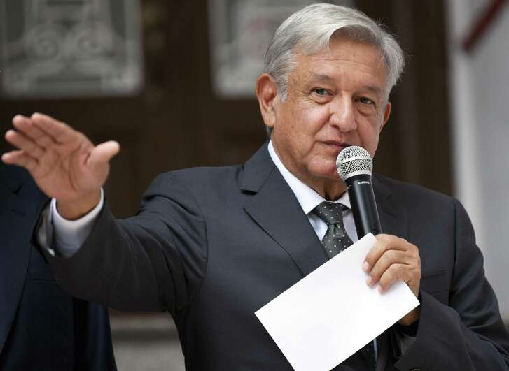 Mexican President-elect Andres Manuel Lopez Obrador delivers a speech after a metting with Ministers of the Supreme Court of Justice of the Nation, in Mexico City on August 10, 2018. He announced late last month a plan to invest billions of dollars in Pemex, the country's state-owned energy company, in an effort to reverse years of declining production.