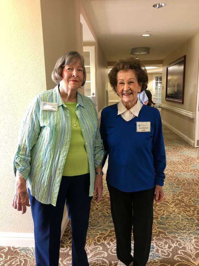 Donna Stadler, 88, and Jean Hartzell, 93, (left to right) met eight years ago at Parkway Place when Stadler moved to the Memorial-area senior living community. The ladies are now best friends and enjoy staying active together. They celebrated National Friendship Day on Sunday, Aug. 5, with a walk around their community. Photo: Courtesy Photo