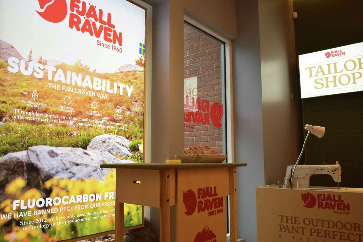 Fjallraven's new store at 200 Greenwich Ave. in Greenwich, Conn., on Monday, Aug. 13, 2018, after its Saturday opening. The outdoors outfitter offers a lifetime warranty on all products, as well as custom tailoring and wax applications to make clothing and gear water resistant.