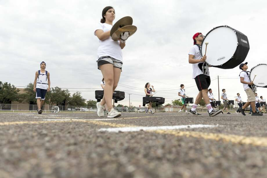 The Permian High School drumlins practices on 8/1/2018 in the afternoon. Photo: Jacy Lewis