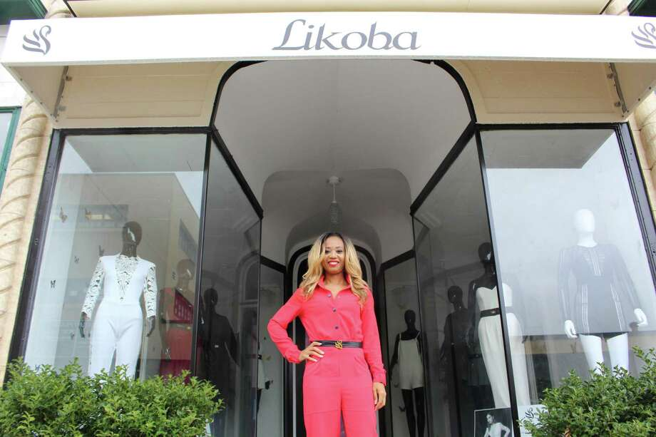 Shelton-based designer Agathe  Likoba is preparing to open a new boutique for her high-end jumpsuit clothing line, Likoba, in downtown Derby. Photo: Jordan Grice / Hearst Connecticut Media / Connecticut Post
