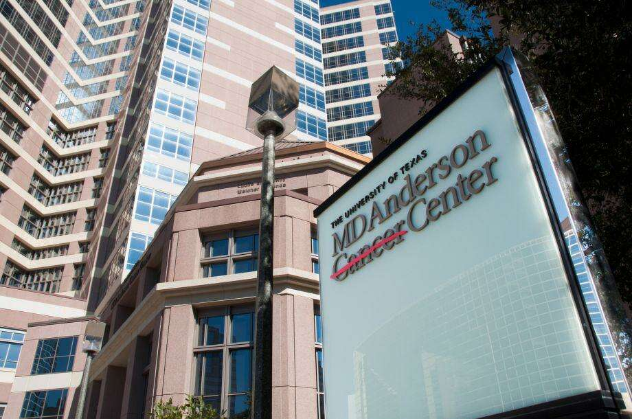 A view of the outside of the MD Anderson Cancer Center. Bellicum Pharmaceuticals Inc. announced Tuesday the cancer center would acquire its 60,000-square foot manufacturing facility in Houston. Photo: Houston Chronicle