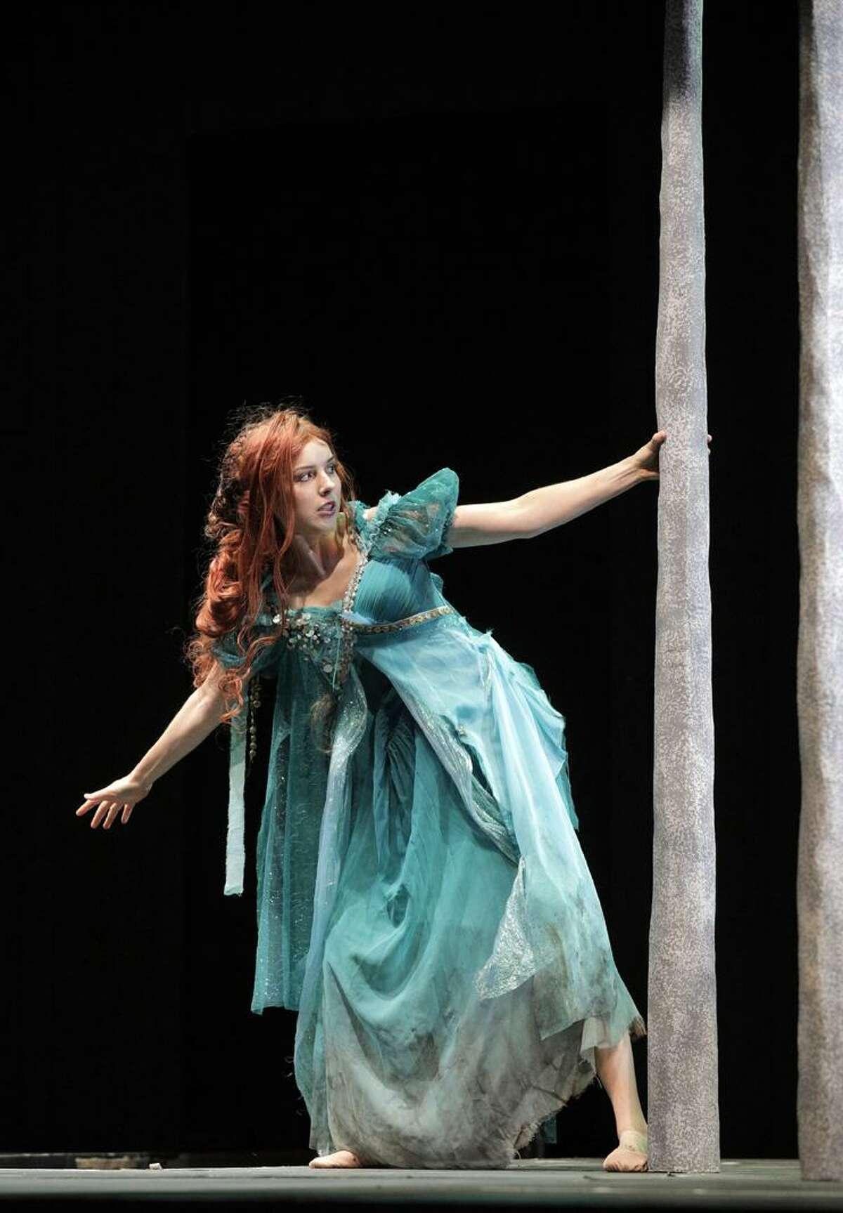 """Kendra Broom as Mélisandein Debussy's """"Pelléas and Mélisande"""" at West Edge Opera"""