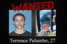 Terrence Palumbo, 27, is wanted on three counts of indecent exposure.