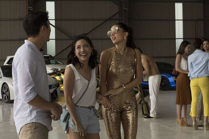 "Henry Golding, Constance Wu in ""Crazy Rich Asians."""