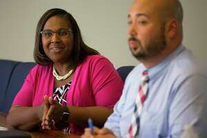 Houston Independent School District Interim Superintendent Grenita Lathan speaks with the Houston Chronicle's editorial board, Monday, Aug. 6, 2018 in Houston.