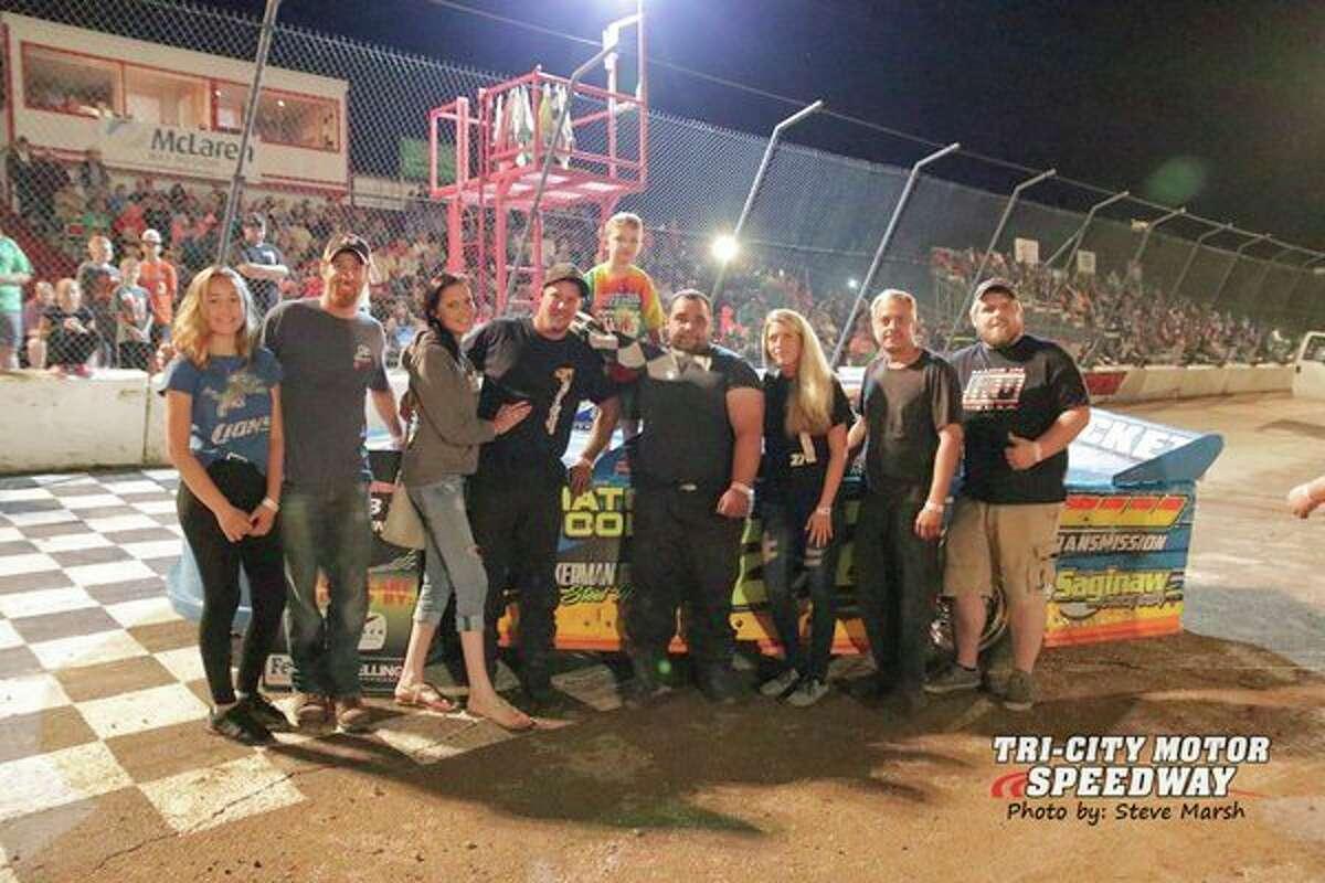 Rob Westergard won the Pro Stock race on Aug. 10.(Steve Marsh/Tri-City Motor Speedway)