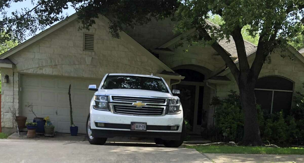 Photo of state Senate candidate Pete Gallego's truck outside the Austin home he shares with his wife. But Gallego claims residency in the West Texas town of Alpine, which is in the district in which he's campaigning. A judge recently rejected a motion for a temporary restraining order that would have delayed the runoff election.