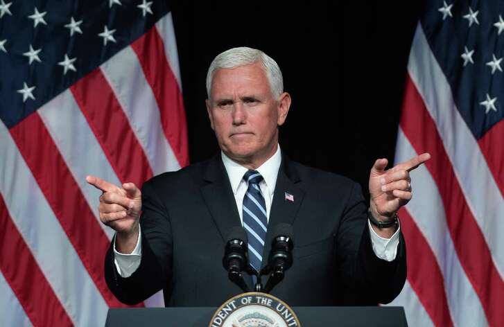 Vice President Mike Pence speaks about the creation of a new branch of the military, Space Force, at the Pentagon in Washington, D.C., on August 9, 2018.