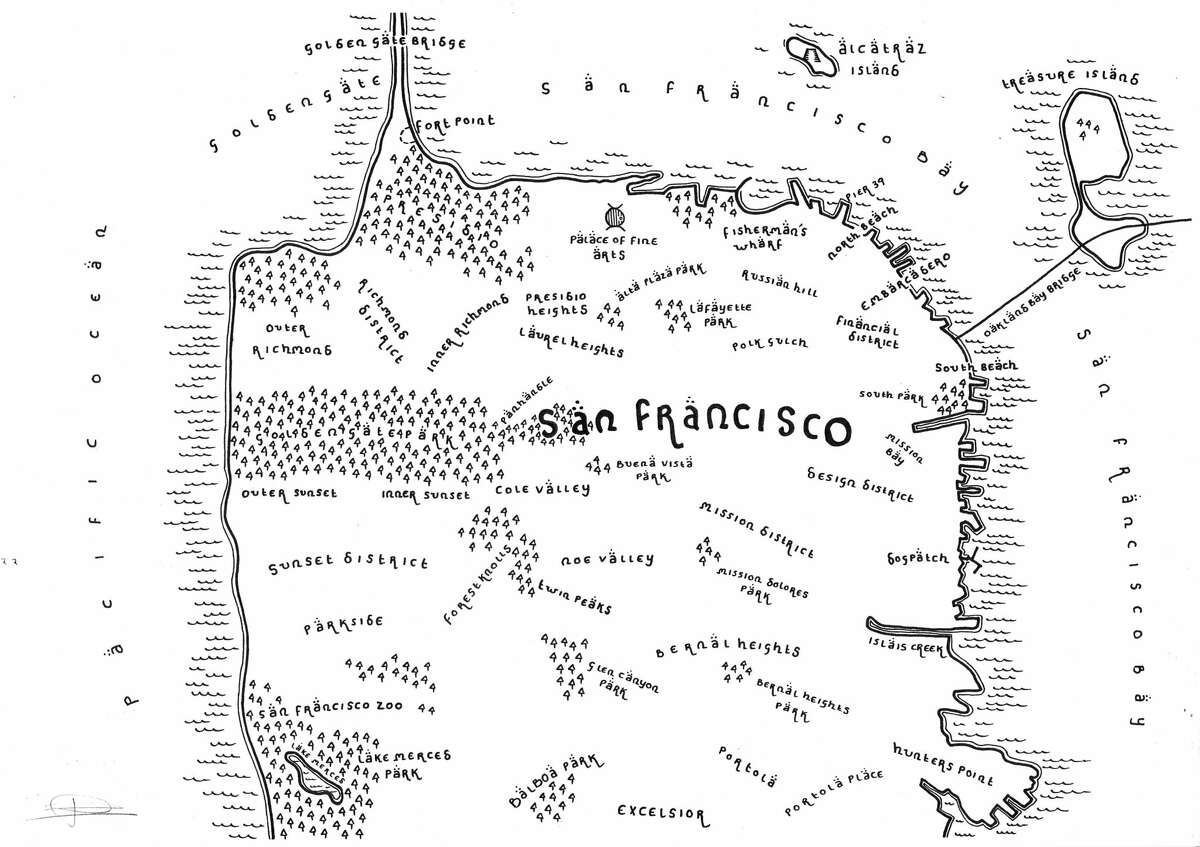 Dan Bell's rendering of San Francisco.