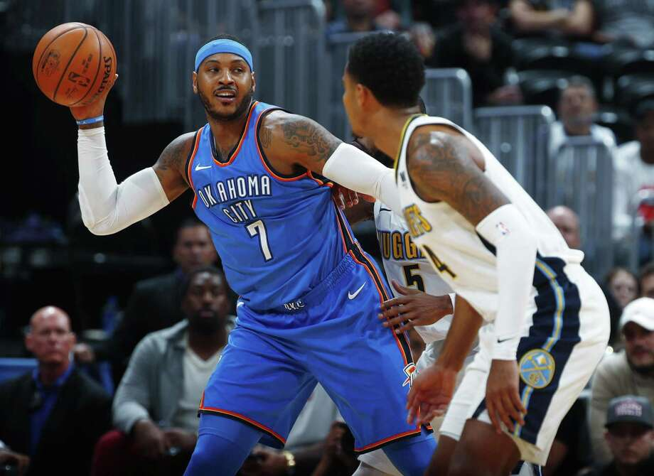 Carmelo Anthony signed a one-year, $2.4 million deal with the Houston Rockets on Monday. Photo: David Zalubowski, STF / Associated Press / Copyright 2017 The Associated Press. All rights reserved.