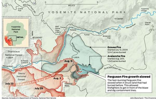Ferguson Fire California Map.In California S New Wildfire Reality Facing The Need For Periodic