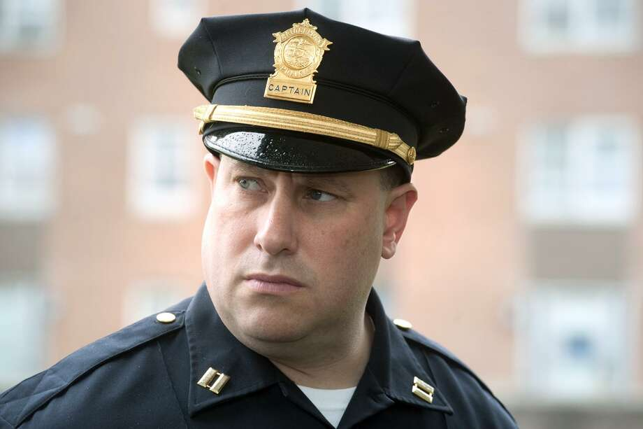 Police Captain Mark Straubel. Photo: Ned Gerard / Hearst Connecticut Media / Connecticut Post