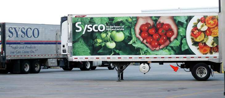 Sysco trucks at Sysco Houston at 10710 Greens Crossing Blvd., Monday, June 25, 2018, in Houston. ( Karen Warren / Houston Chronicle )