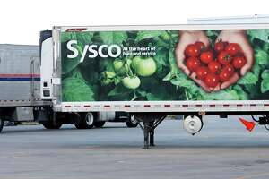 Sysco trucks at Sysco Houston at 10710 Greens Crossing Blvd., Monday, June 25, 2018, in Houston.   ( Karen Warren  / Houston Chronicle )