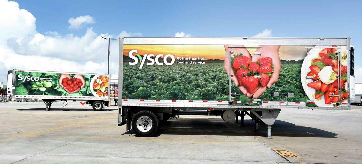 Sysco trucks at Sysco Houston at 10710 Greens Crossing Blvd.