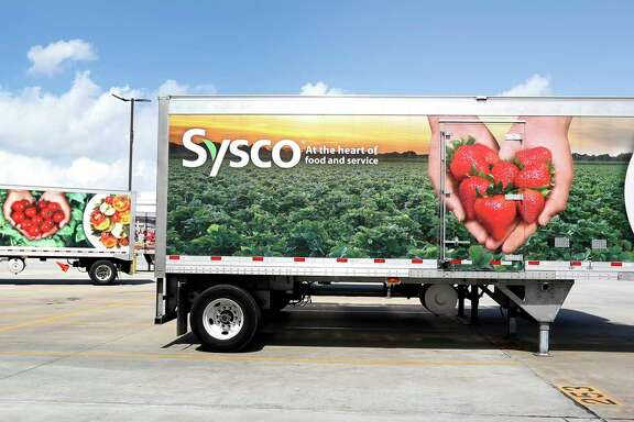 Sysco trucks at Sysco Houston at 10710 Greens Crossing Blvd.