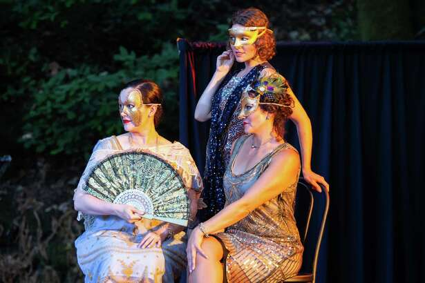 """Dana Cordelia Morgan (left), Bianca Marconcini and Ambera DeLash in """"Much Ado About Nothing."""""""