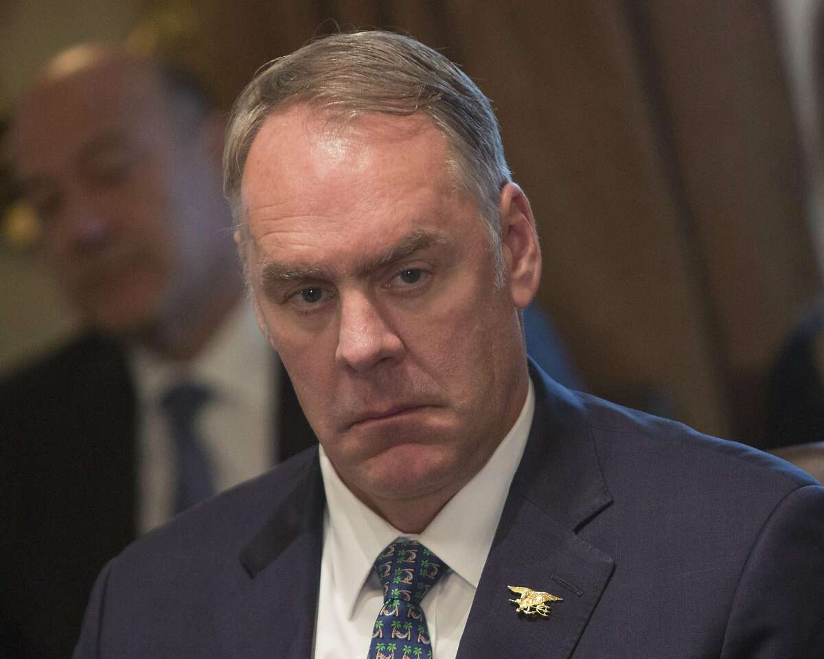 Secretary of the Interior Ryan Zinke listens during a Cabinet meeting at the White House in Washington, D.C., on December 20, 2017. (Chris Kleponis/Polaris/Pool/Abaca Press/TNS)